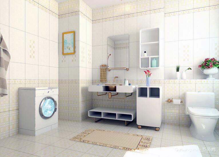 现代欧式大户型卫生间装修设计效果图