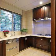 现代中式简约厨房装修效果图