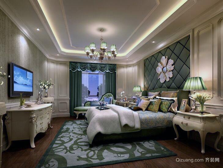 2016现代欧式大户型家居卧室装修效果图
