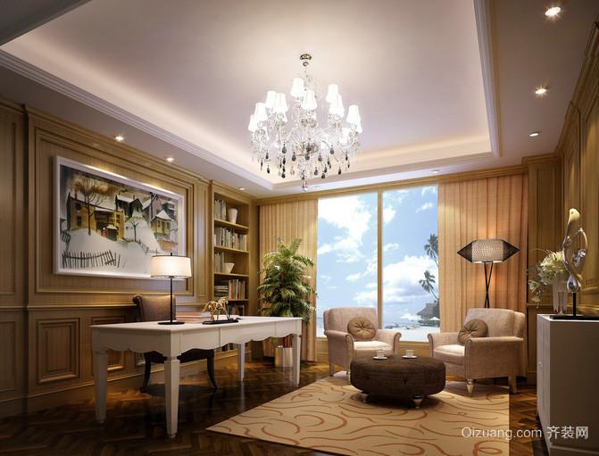 别墅型欧式客厅吊灯装修效果图
