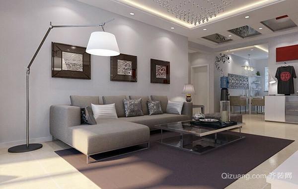 2016都市大户型欧式客厅沙发背景墙装修效果图