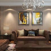 后现代简约时尚客厅吊灯装修效果图