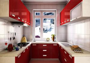 后现代简约时尚混搭厨房装修效果图