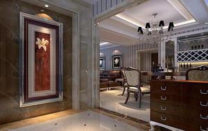 2016别墅欧式风格室内玄关隔断装修效果图