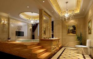 欧式风格别墅卫生间吊顶装修效果图欣赏