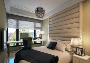 欧式大户型卧室床头背景墙装修效果图实例