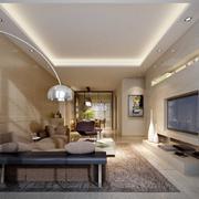 2016欧式风格精美的别墅客厅装修效果图