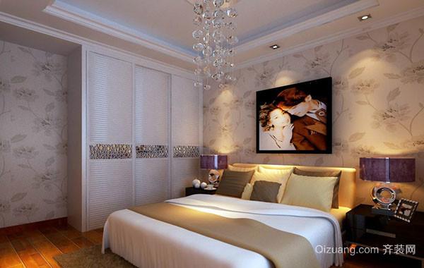 别墅型复式小楼卧室背景墙装修效果图