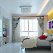明亮黄色卧室背景墙