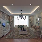 田园风格大户型唯美的家庭客厅装修效果图