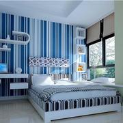 地中海风情卧室背景墙效果图