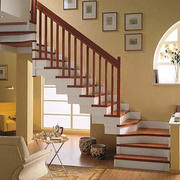 时尚混搭楼梯效果图