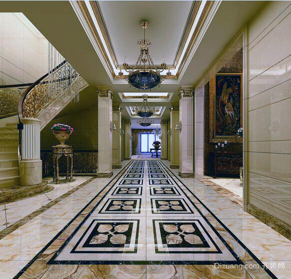 欧式别墅型美观的玄关装修效果图欣赏