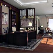 精致完美的别墅型书房装修设计效果图