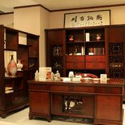 中式书房书架效果图