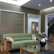 复式小楼中式时尚混搭客厅装修效果图