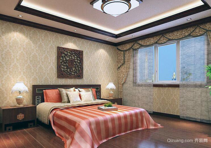 2016高雅时尚的大户型中式卧室装修效果图