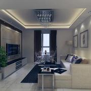 2016轻快的大户型现代家装客厅装修效果图