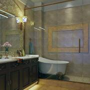 欧式精美的现代室内小卫生间装修效果图