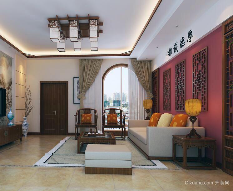 中式风格别墅型完美房子客厅装修效果图