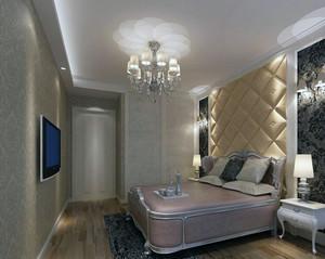 大户型欧式风格卧室软包背景墙装修效果图