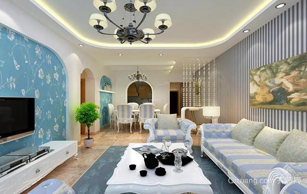欧式大户型两房一厅客厅装修效果图实例