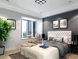 欧式风格现代单身公寓卧室吊顶装修效果图