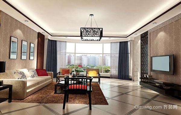 100平米简欧风格房屋客厅吊顶装修效果图