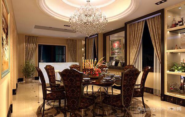 2016大户型欧式风格餐厅室内装修效果图实例