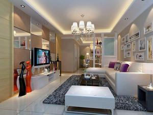 现代小户型家居客厅背景墙装修设计效果图