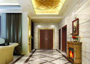200平米别墅现代中式玄关装修效果图