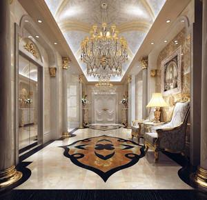 别墅型欧式皇家般的玄关装修效果图