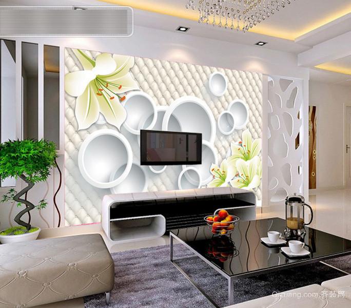 小资们喜欢的时尚客厅背景墙装修效果图