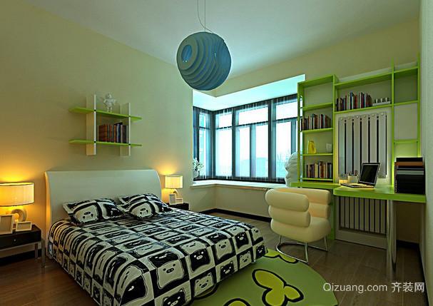 10平米动感绿色儿童房装修效果图