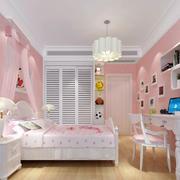 时尚女生儿童房效果图