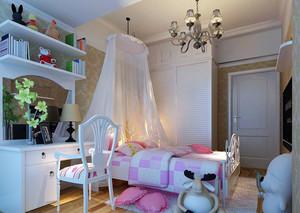 时尚轻快自然童趣儿童房装修效果图