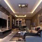 经典的欧式大户型客厅装修效果图实例
