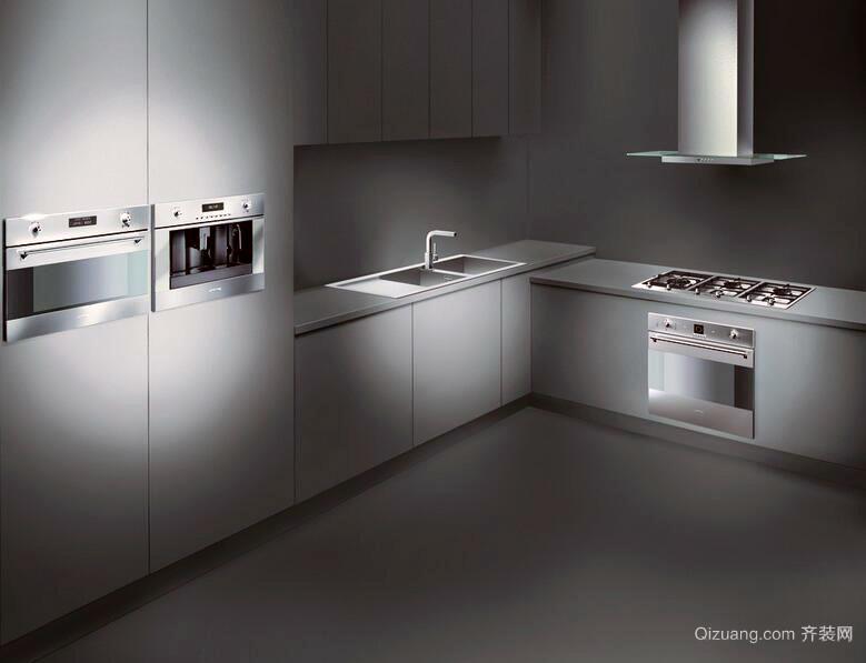 小户型高雅的欧式厨房装修效果图实例