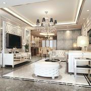 欧式风格客厅背景墙装修图