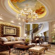 时尚欧式客厅吊顶效果图