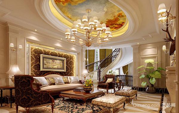 现代奢华欧式客厅装修效果图