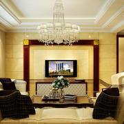 欧式客厅吊灯装修效果图