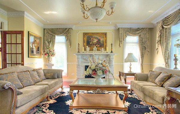 别墅型简欧风格客厅装修效果图赏析