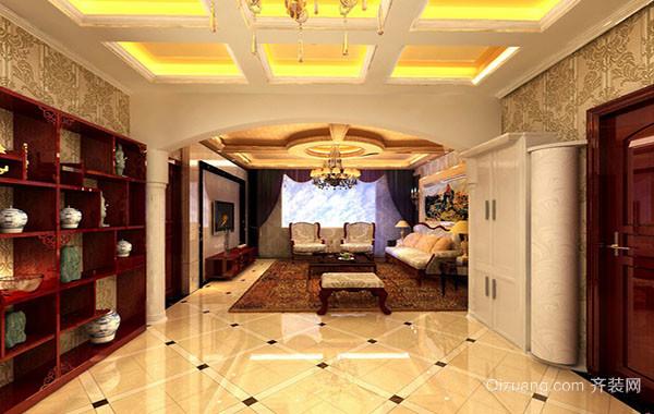 现代别墅欧式简约时尚客厅背景墙装修效果图