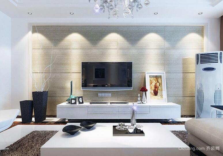 2016欧式大户型电视背景墙装修效果图欣赏