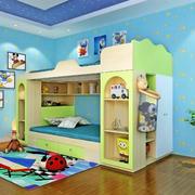 海洋蓝色儿童房效果图