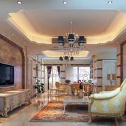 2016大户型精美的欧式客厅装修效果图欣赏