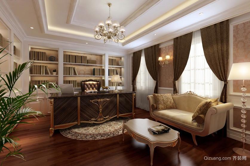 欧式风格别墅书房装修效果图