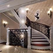 别墅奢华楼梯效果图