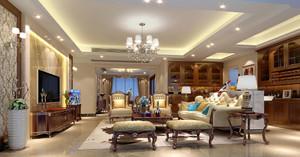 200平米别墅现代简欧风格客厅装修效果图